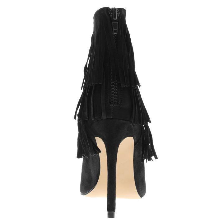 STEVE MADDEN FLAPPER STILETTO Stiefel – SUEDE - – BLACK – SIZE 6 – - BNIB 799490