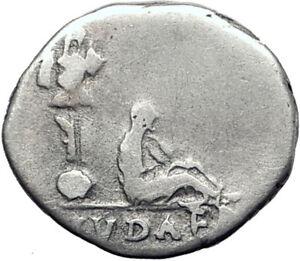VESPASIAN-69AD-Jewish-War-Victory-JUDAEA-CAPTA-Silver-Ancient-Roman-Coin-i63910