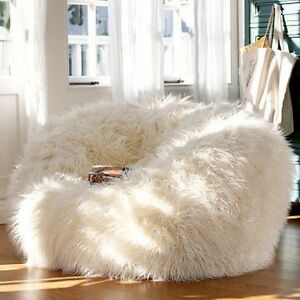 8158fa556d NEW - AUSTRALIA S LARGEST Fluffy White Faux Fake Shaggy Fur Bean Bag ...