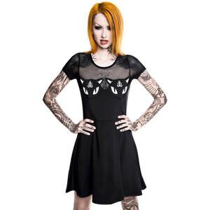 Show Me Your Kitties Mesh Katzen Killstar Gothic Goth Skater Kleid Minikleid