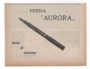 Pubblicita-epoca-1927-PENNA-AURORA-PEN-ITALY-advert-werbung-publicite-reklame
