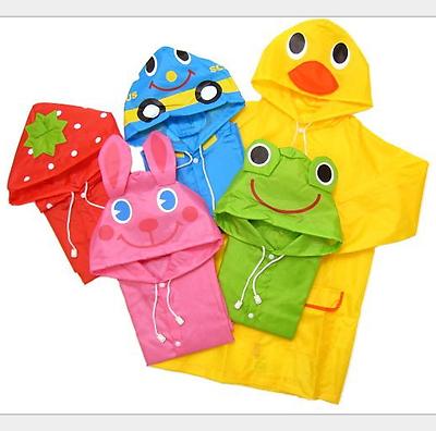 Children Cartoon Rain Coat Kids Rainwear Cute Baby Funny Waterproof  Raincoat