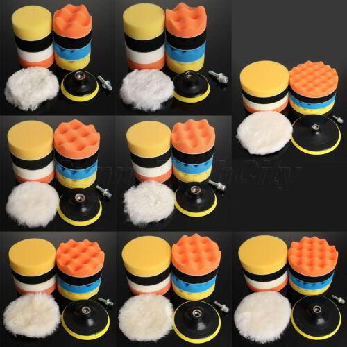 9Pcs 3/4/5/6/7 Sponge Foam Wool Polishing Cleaning Buffing Waxing Pads Set
