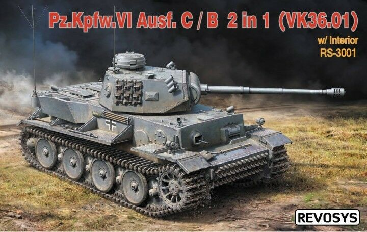 Revosys Hobby 1 35 German PzKpfw.VI Ausf.C B (VK36.01) with Interior Detail Set