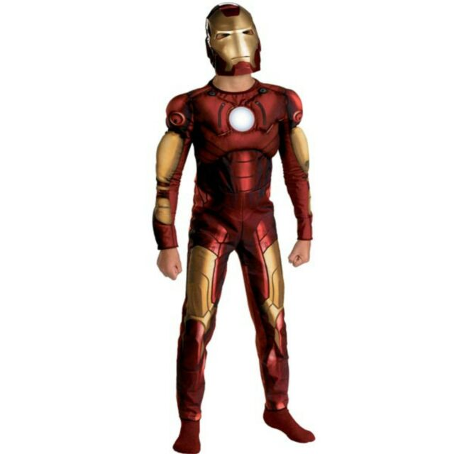 b186a141bfff Iron Man The Movie Boys Child Size 4-6 Muscle Costume New Marvel Avengers