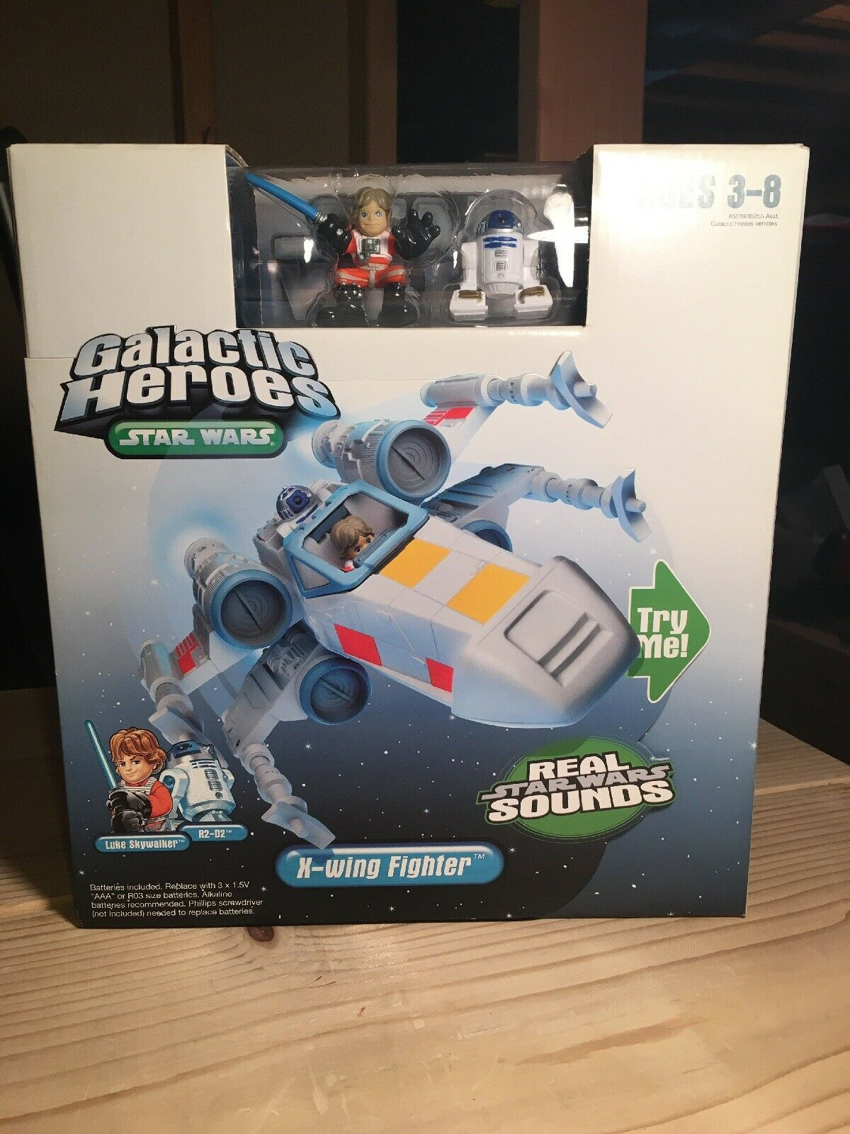 Star Wars Galactic Heroes Electronic X-wing Fighter Luke Skywalker R2-D2 NEW NIB