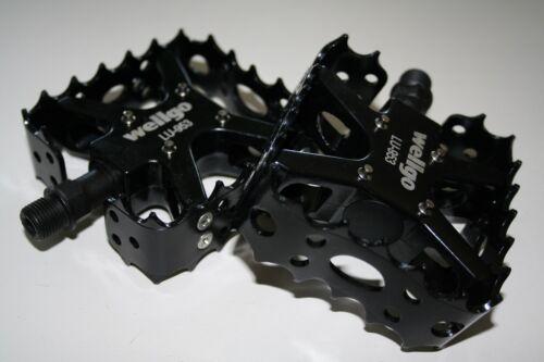 Fahrrad Pedale BMX Schwarz Alu Wellgo LU-953 Neu
