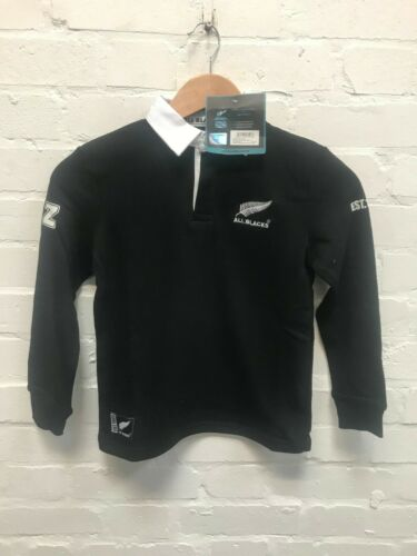 New Zealand Rugby All Blacks Official Long Sleeve Rugby Shirt New