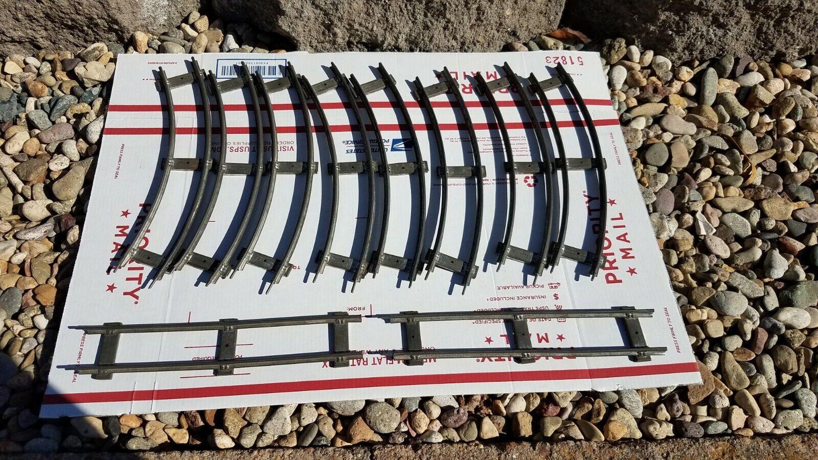 10 Tracks pieces for LIONEL TRAIN,  PREWAR