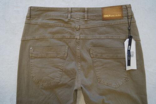 34 36 ONLY  Jeans  Hose Tapered Gr 38 40 L 32 2 Farben beige rosa NEU