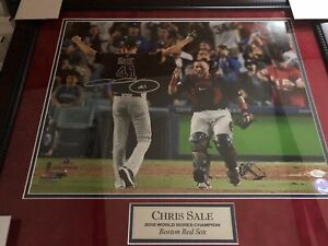 Chris-Sale-AUTOGRAPHED-SIGNED-16x20-PHOTO-FRAMED-WORLD-SERIES-BOSTON-RED-SOX