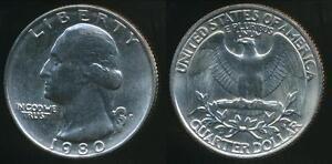 United-States-1980-P-Quarter-1-4-Dollar-Washington-Uncirculated