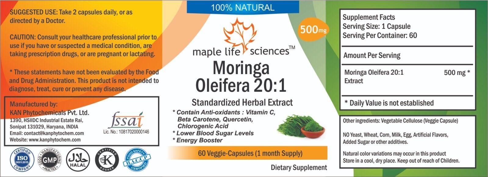 Meerrettichbaum Blätter Extrakt Kapseln 10 10 10 1 Antioxidant Energie Booster fecb04