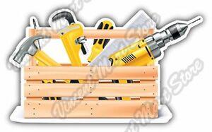 "Tool Box Construction Builder Build Car Bumper Window Vinyl Sticker Decal 5X4/"""