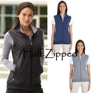 Details about Adidas Women's Full Zip Club Vest A272 S 2XL UPF 50+ Golf CLOSEOUT