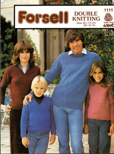 Forsell, Knitting Pattern, Famille Des Chandails, 22-44 In, 1111-afficher Le Titre D'origine