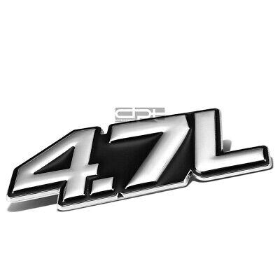 METAL BUMPER BODY GRILL FENDER EMBLEM DECAL LOGO BADGE CHROME RED 4.0 4.0L V6