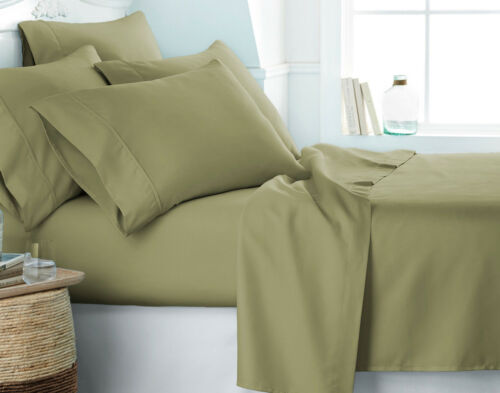 2100 LUXURY BAMBOO SERIES DEEP POCKET 6 PIECE BED SOFT SHEET SET MANY SIZES
