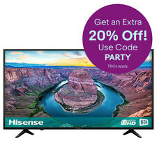 "Hisense H50AE6100UK 50"" 4K HDR DLED Smart Television with Freeview Play"