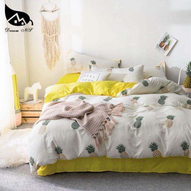 Yellow King Bedding Set For Pineapple, Pineapple Bedding Set