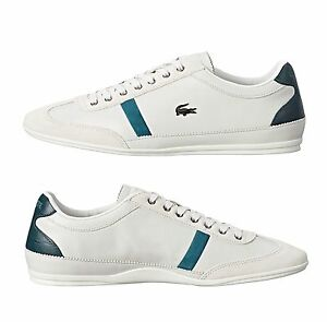 New-Lacoste-Men-039-s-Misano-33-White-Leather-Lace-up-casual-Fashion-Shoes-Sneakers