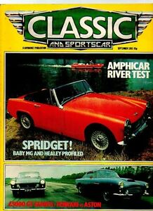 CLASSIC AND SPORTS CAR MAGAZINE September EBay - Classic and sportscar magazine
