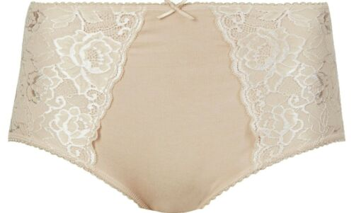 Ex Marks and Spencer Coton Riche Ferme Contrôle Full Slips Taille 12-18 i39.18