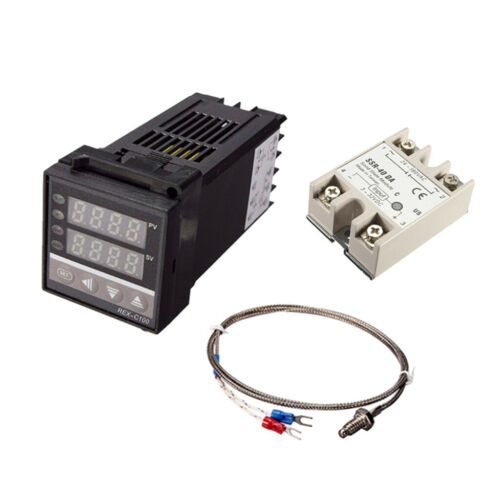 5 teiliger Temperaturregler mit max 40 A SSR mit K Thermoelement Kit 0 400 ℃