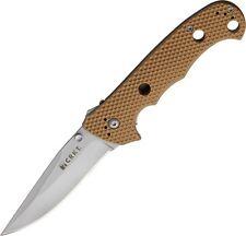 CRKT 7904DIN Hammond Desert uiser Folding Linerlock Knife Tan Zytel Handle