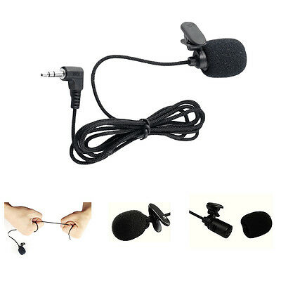 3.5mm Mono Locking Jack Clip on Lavalier Microphone For Wireless transmitter
