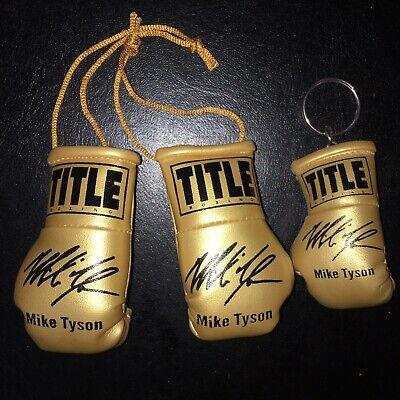 Autographed Mini boxing glove Keyring Mike Tyson