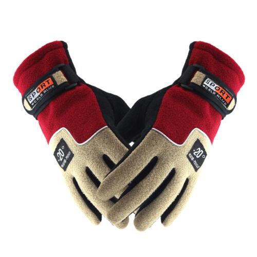 Soft Waterproof Winter Ski Gloves Touch Screen Warm Mittens Snow Polar Fleece US
