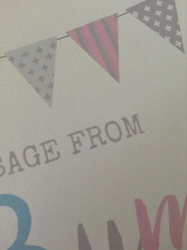 Personalised Baby Shower Table Sign Message From Bump Poem Pink or Blue BS1