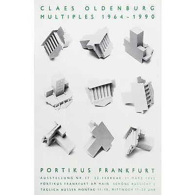 Claes Oldenburg: Multiples 1964-1990, Portikus Frankfurt,1992. Exhibition Poster