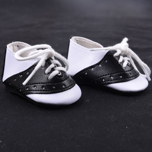 Fashion Black  White Saddle Shoes made for 18 Doll Clothes