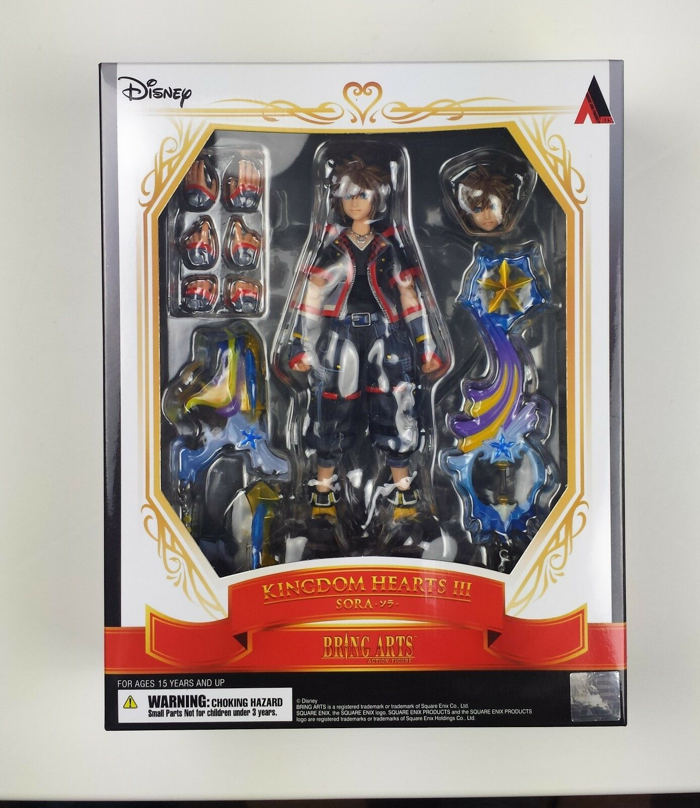 Sora Kingdom Hearts III 3 Bring Arts Square Enix Action Figure 2019 Brand New