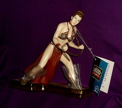 Applause Star Wars 7.5 inch Jabba Prisoner Princess Leia NIP 1998 Carrie Fisher