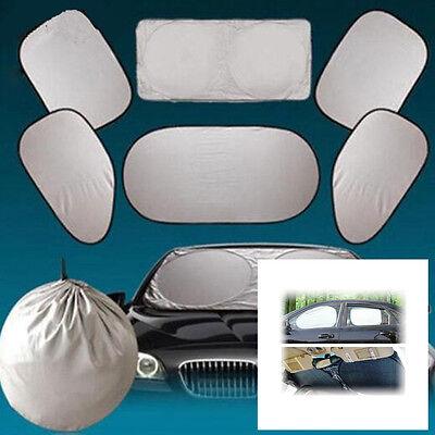 6pcs Car SUV Window Screen Sunshade Cover Front//Back//Side Windshield Sun Visors
