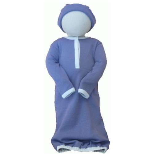 Size 6-12 Months Joli Bebe Organic Cotton Baby Gown Lavender