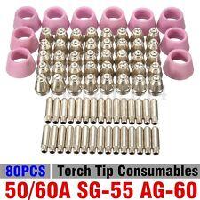 New 80pcs 50/60A SG-55 AG-60 Plasma Cutter Torch Tip Consumables USA SELLER