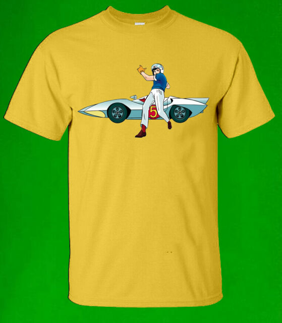 SPEED RACER /& THE MACH 5 White T-shirt 100/% Cotton Tee by BMF Apparel