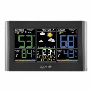 La Crosse Technology C85845 Atomic Clock Color Wireless Forecast Station