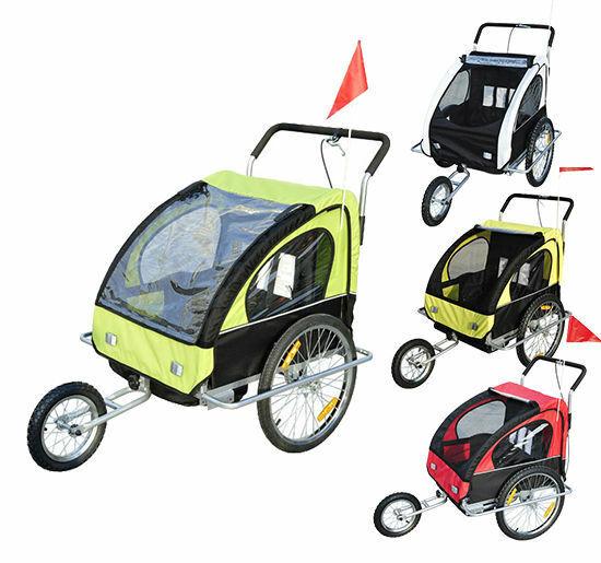 2 in1 Kinderanhänger Fahrradanhänger Kinder Radanhänger Anhänger Jogger 5 Farben