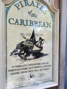 16x28-034-Disneyland-Pirates-Of-The-Caribbean-1967-Attraction-50th-Sign-Prop-POTC