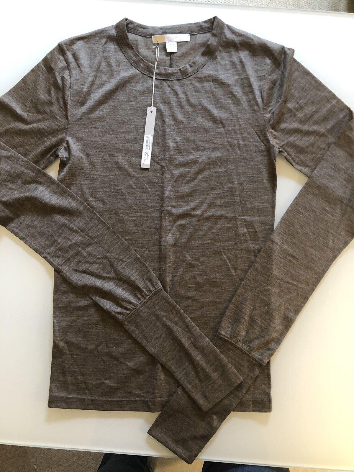 À Manches Longues Bamford Skinny T-shirt 100% cachemire BNWT M