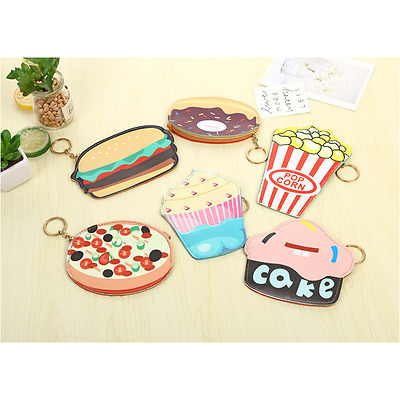 Cute Food Flat PU Coin Bag Purse Wallet ~ 6 Designs Options