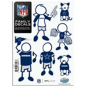 Dallas Cowboys Family Decals  Pack NEW Auto Car Stickers - Family decal stickers for cars