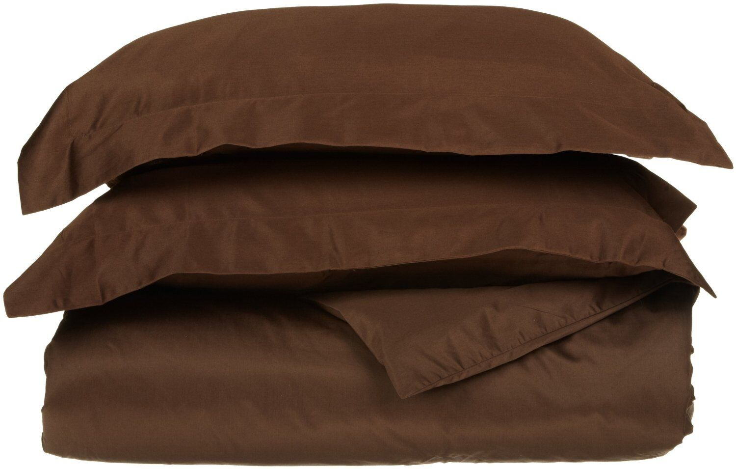 LUXOR  100% Egyptian Cotton 600TC Solid Sateen Bed Sheet Set Cal King- Chocolate