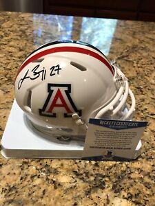 Lance-Briggs-Autographed-Arizona-University-Riddell-Mini-Helmet-Beckett-COA