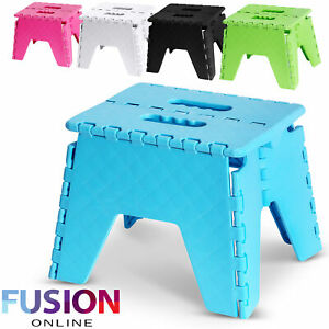 Foldable-Step-Stool-Folding-Sturdy-Home-Kitchen-Garage-Carry-Multi-Purpose-Stool